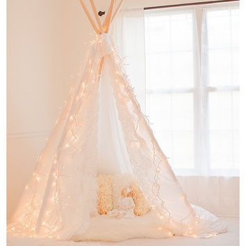 Gorgeous Lace Edge Photography Teepee Tent - Photo Prop - Play Tent - Intro Sale - Shabby Chic