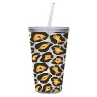 Amazon.com: Cypress Home 17-Ounce Insulated Cup With Lid and Straw, Leopard: Kitchen & Dining