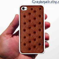 """Ice Cream Sandwich iPhone 4 & 4s Case  Silicone Rubber.Thank you Rachael """"FEATURED in NOV 2012 issue of Everyday With Rachael Ray Magazine."""