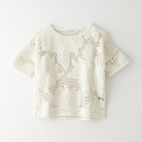 CALICE EMBROIDERED FLOWER TOP