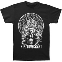 H.P. Lovecraft Men's  H.P. Lovecraft Slim Fit T-shirt Black