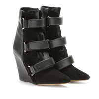 Scarlet Suede And Leather Wedge Boots  - Isabel Marant ∇ mytheresa.com