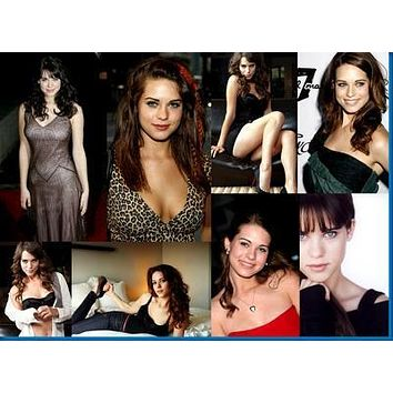 Lyndsy Fonseca Collage poster Metal Sign Wall Art 8in x 12in