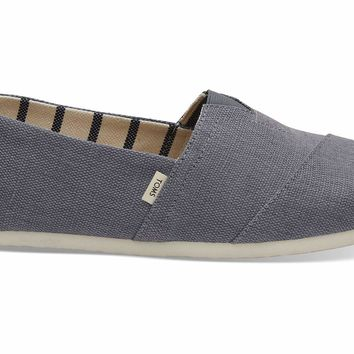 TOMS - Venice Collection Shade Gray Heritage Canvas Men's Classics Slip-Ons
