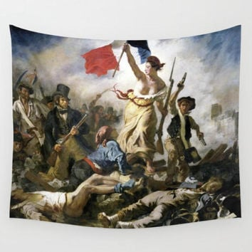 Wall Tapestry, Wall Hanging, Lady Liberty of the French Revolution, French Decor, Dorm Room Decor, Home Decor, Art Decor