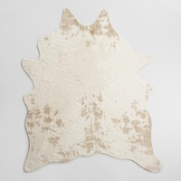 "5'x6'7"" Ivory Faux Cowhide Area Rug"