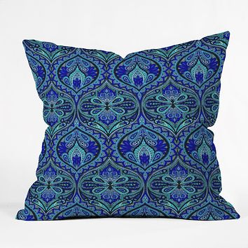 Aimee St Hill Ogee Blue Throw Pillow