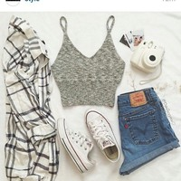 white converse outfit - Google Search