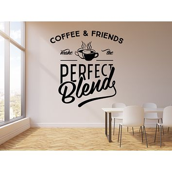Vinyl Wall Decal Coffee And Friends Cup Of Coffee House Cafe Bar Kitchen Quote Stickers Mural (g2756)