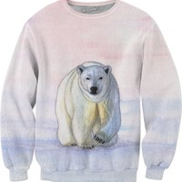 Polar bear in the icy dawn Sweatshirt