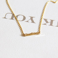 Gold Plated BFF Charm Necklace, e, Tiny Charm Necklace, GoldPlated Charm Necklace, GoldPlated Necklace, Hipster, Instagram, Holiday Gifts