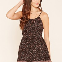Floral Strappy-Back Cami Dress