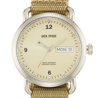 Jack Spade 'Classic Military - Conway' Round Watch, 38mm