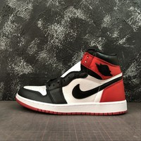"Air Jordan 1 Retro High ""Satin Black Toe"" Sneaker - Best Deal Online"