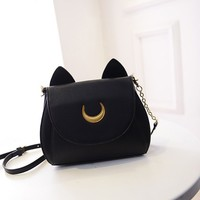 HiRudolph Cosplay Sailor Moon 20th Tsukino Usagi PU Leather Women Handbag Shoulder Bag
