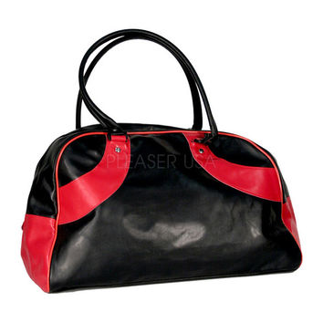 Gym Bag in Black and Red by Demonia