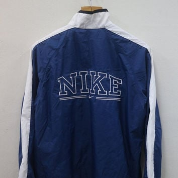 25% SALES Vintage 90's Nike Big Logo Sport Sweater Logo Windbreaker Trainer Jacket Windbreaker Size S