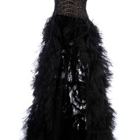 Zuhair Murad Pleated Fish Tail Gown