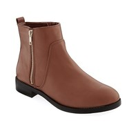 Old Navy Faux Leather Ankle Bootie With Zipper For Women