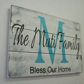 Pallet Name Sign Family Name Sign Initial Sign Wedding Gift Bridal Shower Gift Anniversary Gift Housewarming Gift Personalized Wall Decor