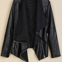 'The Selah' Black Leather Zippered Jacket