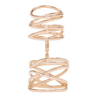 Rose Gold Twin Ring