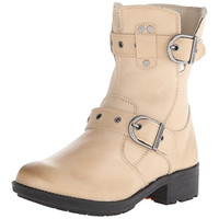 Harley-Davidson Womens Grace Leather Buckled Motorcycle Boots