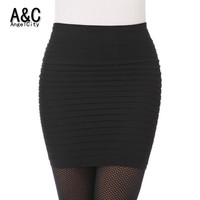High Waist  Candy Color Plus Size Elastic Pleated Short Skirt