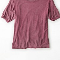 AEO Women's Don't Ask Why Ringer Baby T-shirt