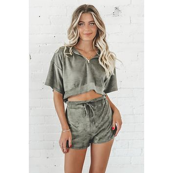 I'm Very Chill Olive Set