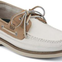 Sperry Top-Sider Mako 2-Eye Canoe Moc Boat Shoe Oyster/taupe, Size 9.5M  Men's Shoes
