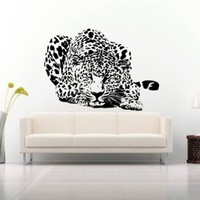 Wall Decal Vinyl Sticker Leopard Lion Tiger Panther Animals Bedroom Dorm B446