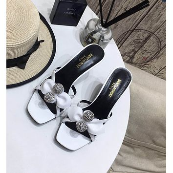 ysl women casual shoes boots fashionable casual leather women heels sandal shoes 6