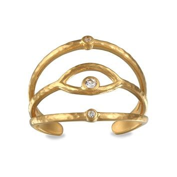 Shielded from Negativity Gold Ring