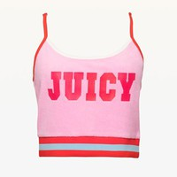 JXJC Juicy Logo Microterry Crop Top