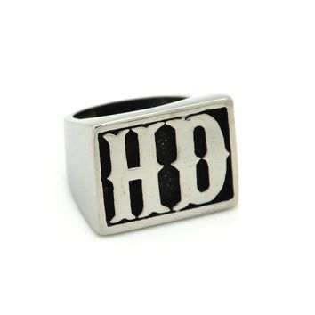 HD Stainless Steel Biker Ring