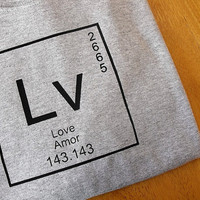 T-shirt - Kids' Love and Science Tshirt Periodic Table Tee