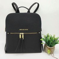 michael kors simple fashion all match backpack mk women double shoulder bag