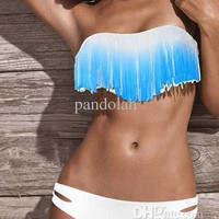 Colorful Fringe Tassels Real Class Swimsuit