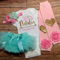 newborn girl clothes, baby girl coming home outfit, take home outfit, baby girl, pink, mint, newborn girl clothes, baby girl clothes