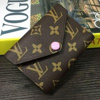 LV Louis Vuitton Women's Trendy Elegant Leather Clutch Wallet F-MYJSY-BB