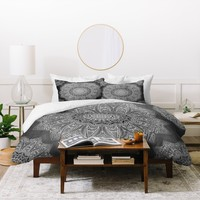 Monika Strigel SERENDIPITY BLACK Duvet Cover