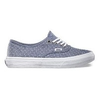 Product: Chambray Dots Authentic Slim