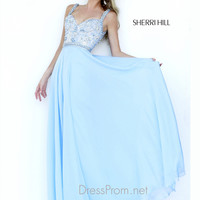Surplice Sweetheart Neckline Formal Prom Gown By Sherri Hill 8552