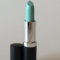 Belize DNA Lipstick- Intense Pop of Color Teal Lipstick- Semi Matte