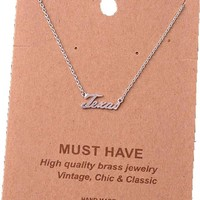 Must Have-Texas Necklace, Silver