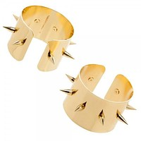 Suicide Squad Harley Quinn Cosplay Spiked Gold Cuffs