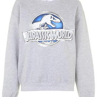 Jurassic World Sweatshirt By Tee and Cake - Grey