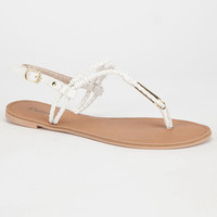 Qupid Athena Womens Sandals White  In Sizes
