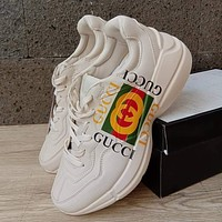 GUCCI GG Men's and Women's Platform Sneakers Shoes